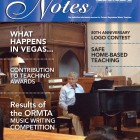 Front cover in Notes Magazine